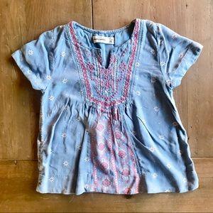 Abercrombie kids hobo shirt short sleeve 7/8 girls